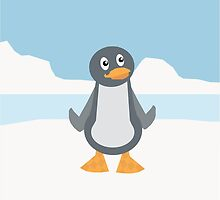 Penguin on Ice by JoshCooper