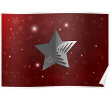 Abstract Christmas Star Background Poster