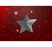 Abstract Christmas Star Background Photographic Print
