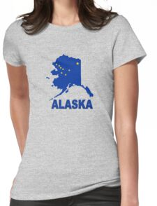 ALASKA STATE MAP Womens Fitted T-Shirt