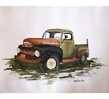 51' Ford Watercolor Painting Photographic Print