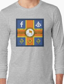 Sir Ernest H. Shackleton Appreciation Society Sledge Flag Long Sleeve T-Shirt