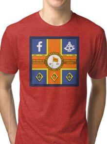 Sir Ernest H. Shackleton Appreciation Society Sledge Flag Tri-blend T-Shirt