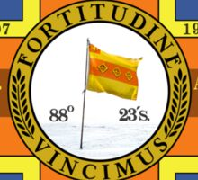 Sir Ernest H. Shackleton Appreciation Society Sledge Flag Sticker