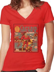 Captain Obvious T-Shirt Women's Fitted V-Neck T-Shirt