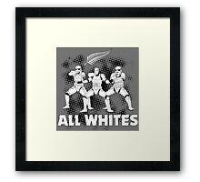 All Whites Framed Print