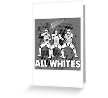 All Whites Greeting Card