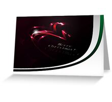 Abstract Christmas Ribbons Background Greeting Card