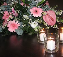 Candles & Flowers... by Deines