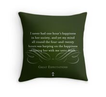 Great Expectations Quote Throw Pillow