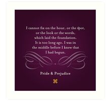 Pride & Prejudice Quote Art Print
