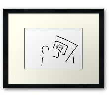 architect technical draftsmen Framed Print