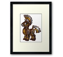 Steampunk Pony Framed Print