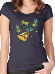 Baby Ninja Turtles T-Shirt Women's Fitted Scoop T-Shirt