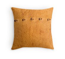 leather background Throw Pillow