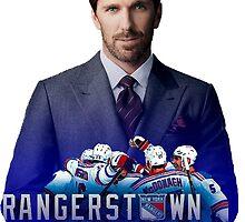 Henrik Lundqvist NY Rangerstown by ariellarose