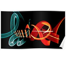 Graffiti in Light Poster