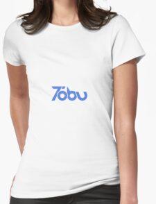 Tobu - Blue Logo Design Womens Fitted T-Shirt