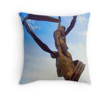 """Ah, but a man's reach should exceed his grasp, or what's a heaven for?"" Throw Pillow"