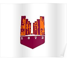 Virginia Tech Pylons 1872 Poster