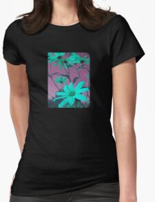 Green Flowers with Pink Sky T-Shirt T-Shirt