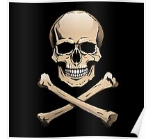 Colored skull with crossbones (Jolly Roger) Poster