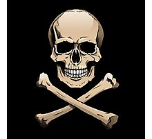 Colored skull with crossbones (Jolly Roger) Photographic Print