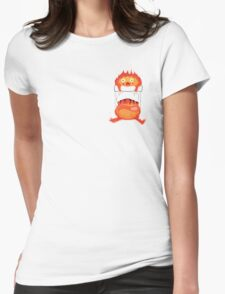 Calcifer in our Heart Womens Fitted T-Shirt