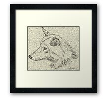 Gray Wolf ~ Out Of The Past, Into The Future Framed Print