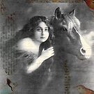 Vintage Horse Digital Collage by angelandspot