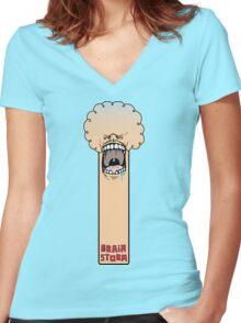 Brain Storm 2 Women's Fitted V-Neck T-Shirt