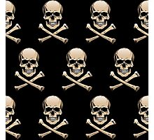 Colored skulls with crossbones (Jolly Roger) Photographic Print