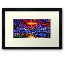Picture 2015061 Justin Beck wave sunset Framed Print