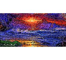Picture 2015061 Justin Beck wave sunset Photographic Print