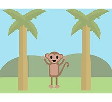 Monkey In The Jungle Photographic Print