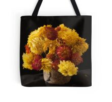 A Bouquet of Dried Dahlias and Chrysanthemums Tote Bag