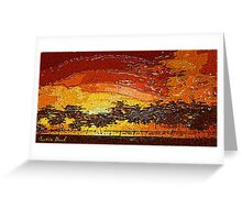 Picture 2015062 Justin Beck Warm Sunset Greeting Card