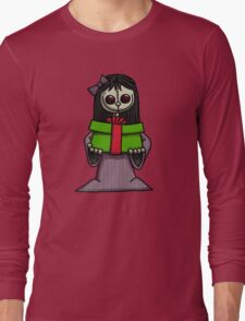Creepy Girl with Package Long Sleeve T-Shirt