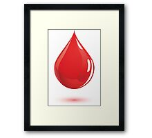 Blood donation Framed Print