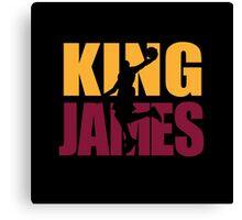 Lebron James - King James team colors Canvas Print