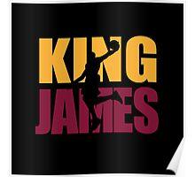 Lebron James - King James team colors Poster