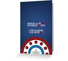 Captain America: Winter Soldier - Quote Greeting Card