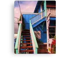 Small Town Coffee House Canvas Print