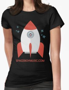Spaceboy's Rocket Womens Fitted T-Shirt
