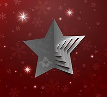 Abstract Christmas Star Background by gruml