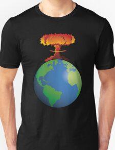 Nuclear explosion on Earth Unisex T-Shirt
