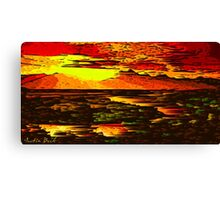 Picture 2015066 Justin Beck Mountain Sunset Canvas Print