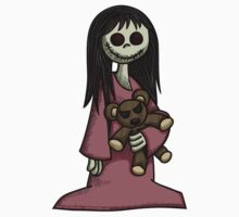 Creepy Girl with Teddy Bear Kids Clothes