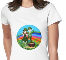 Kids in St.Patrick Day Womens Fitted T-Shirt