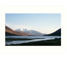 Water on Rannoch Moor Art Print